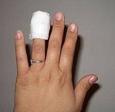 cut finger